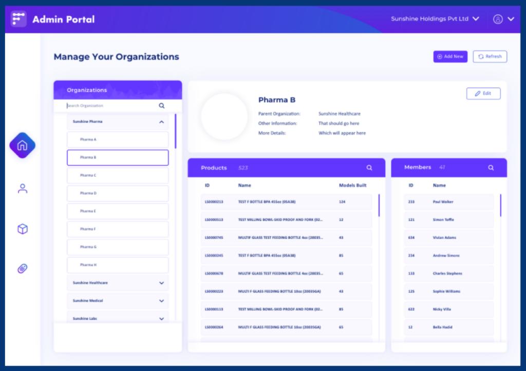 New Admin Portal